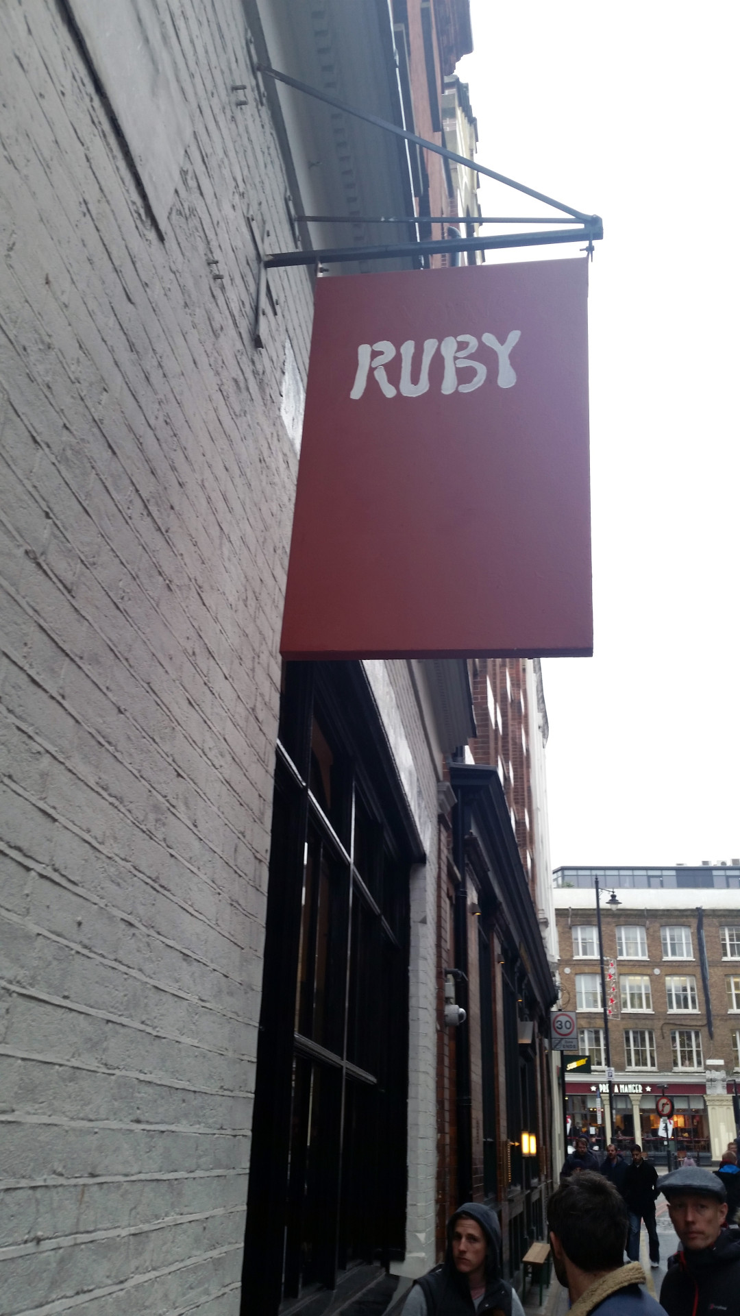 Ruby sign from the street