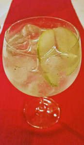 Green apple and lime gin