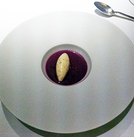 Fat Duck red cabbage gazpacho