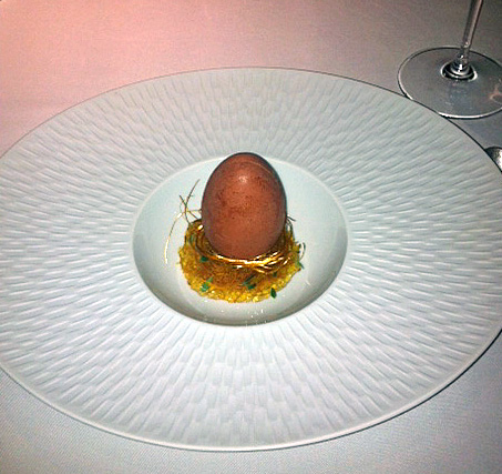 Fat Duck eggs in Verjus, Verjus in egg