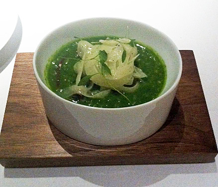 Fat Duck snail porridge