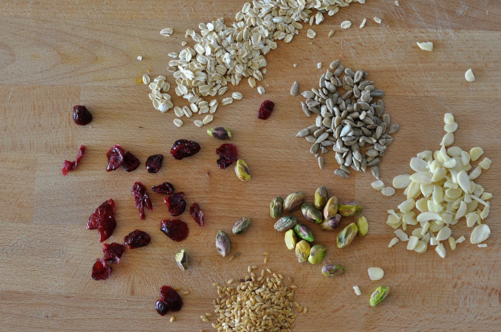Seeds and nuts for 'posh' granola