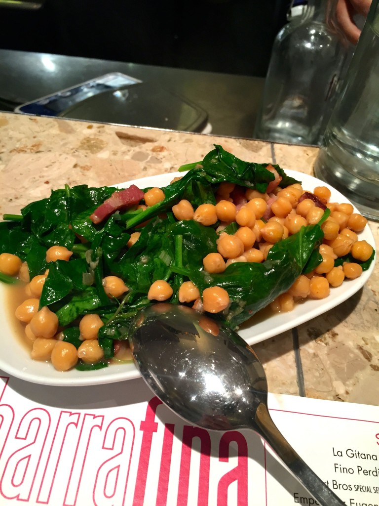 Spinach And Chick Peas With Bacon Recipe — Dishmaps