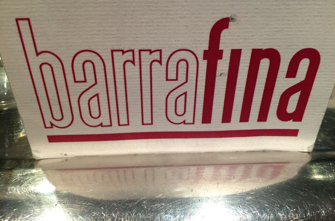 Barrafina menu