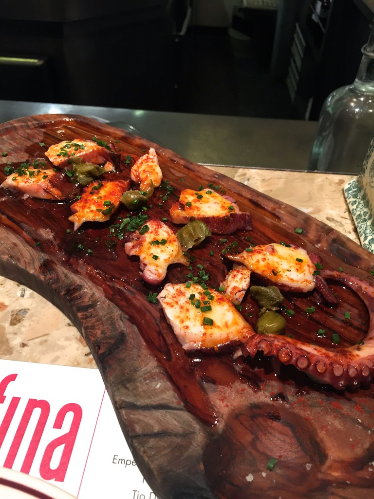 Barrafina octopus with capers