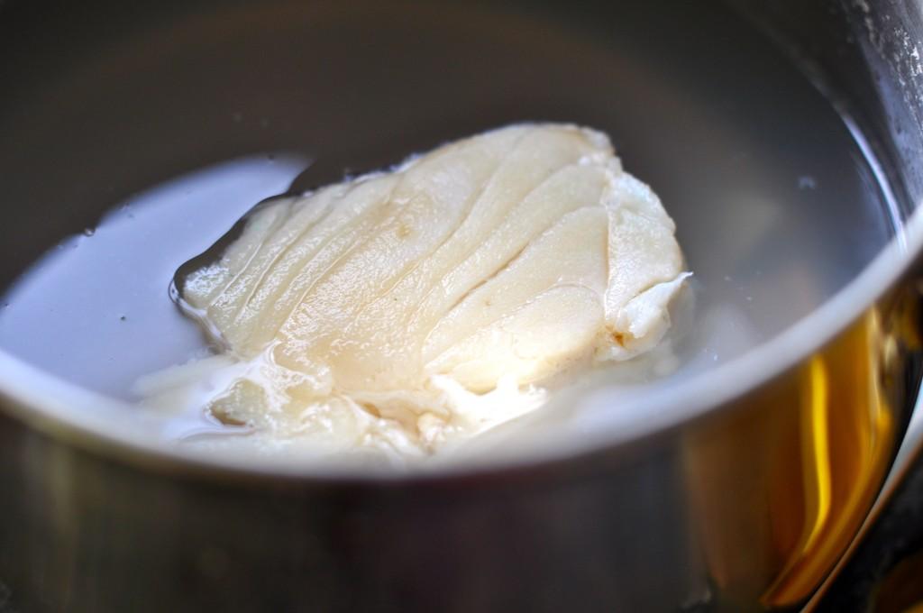 Boiled salt cod