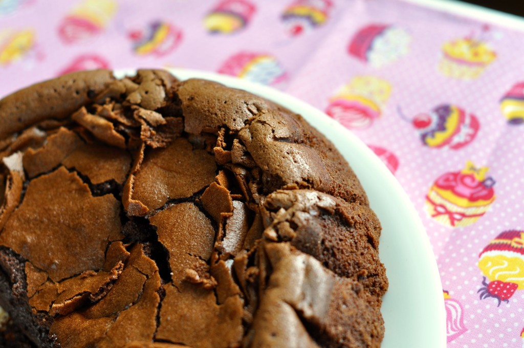 Gooey chocolate and rum cake