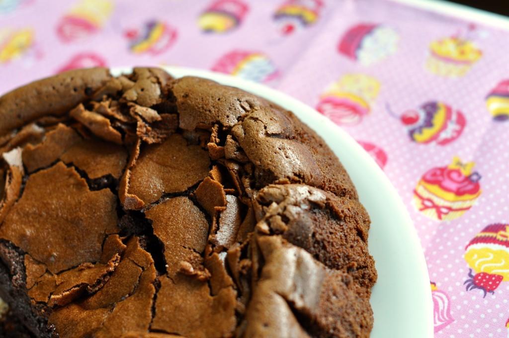 Gooey chocolate and rum cake