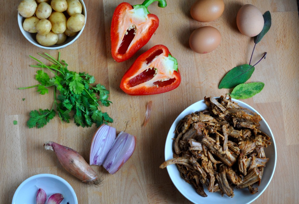 Pulled pork hash ingredients