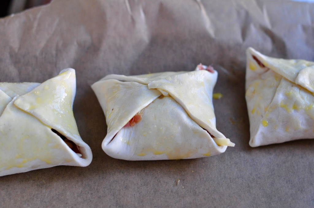 Three Wellington parcels ready for oven