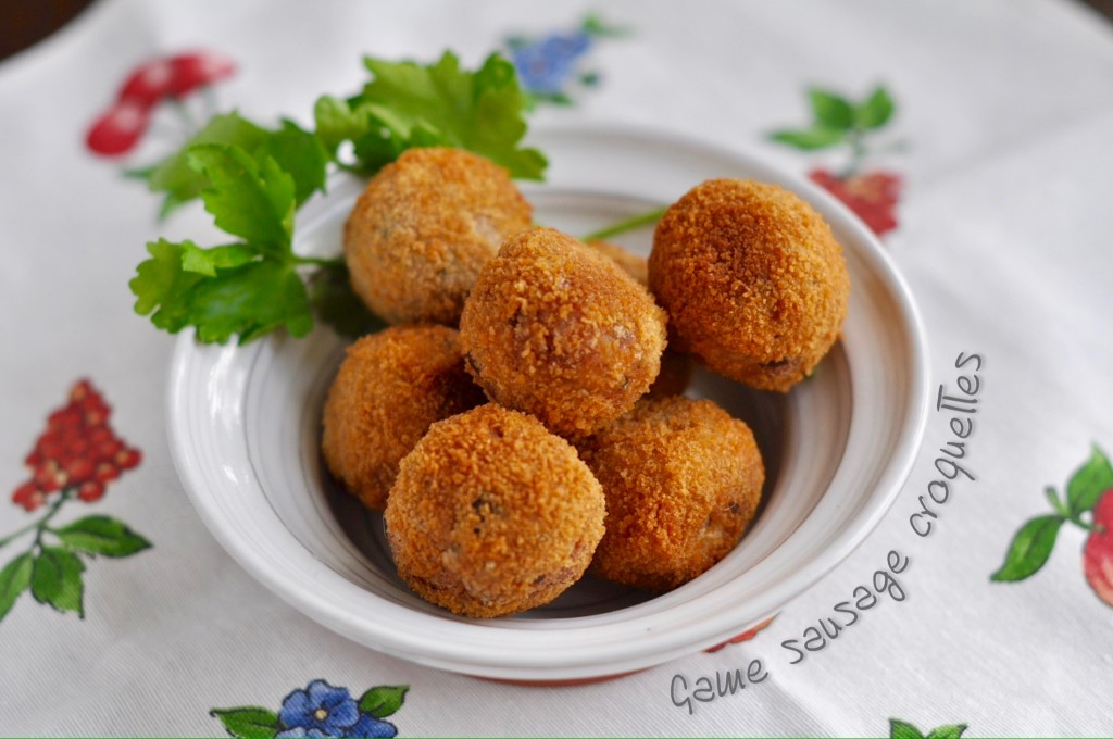 Game sausage croquettes