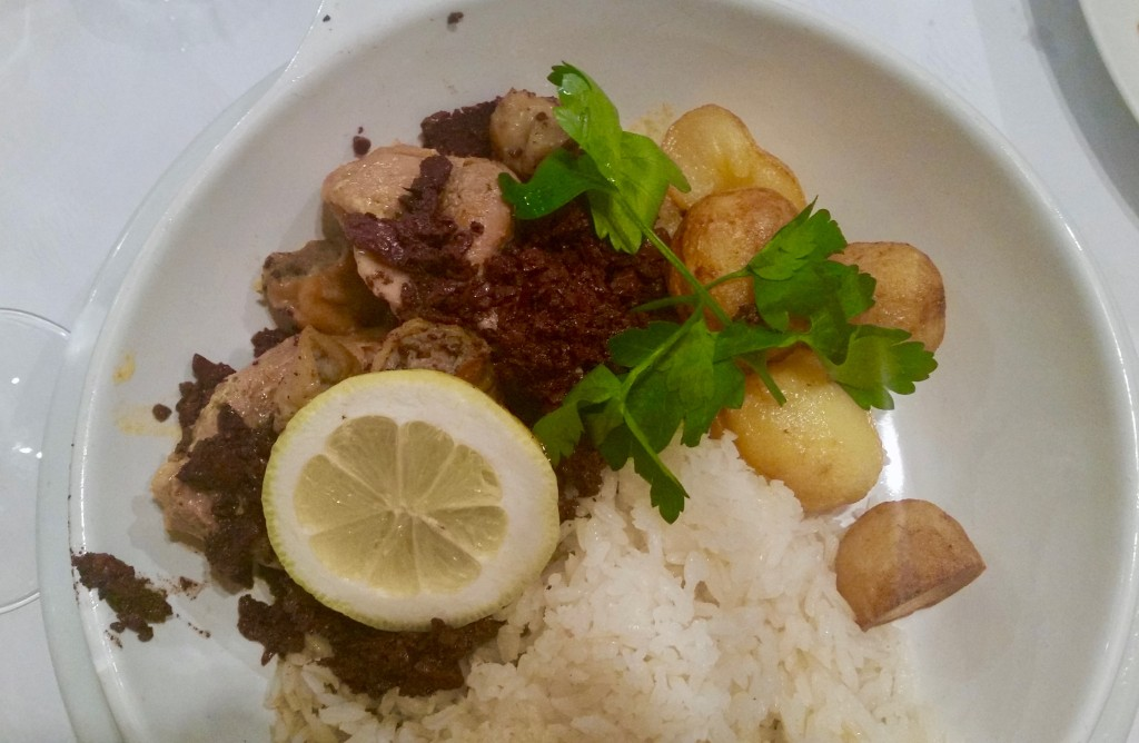 Traditional Pork dish ('rojões) at Ernesto