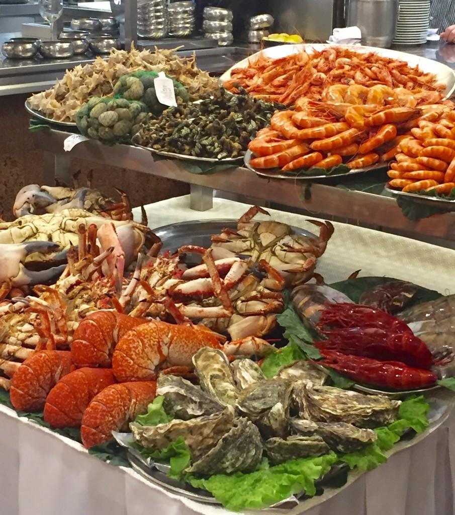Seafood at Marisqueira de Matosinhos